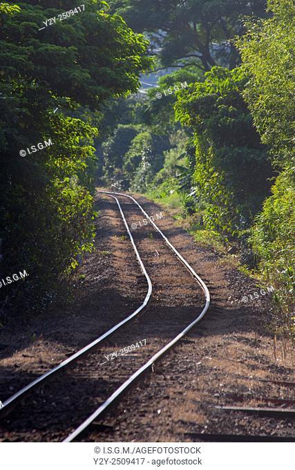 Railway at Ibusuki town, Kagashima prefecture, Japan