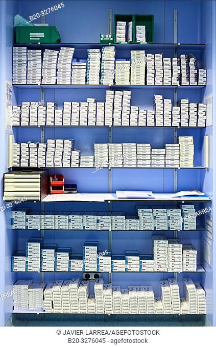 storage of lenses, Operating theater of ophthalmology, Hospital Donostia, San Sebastian, Gipuzkoa, Basque Country, Spain