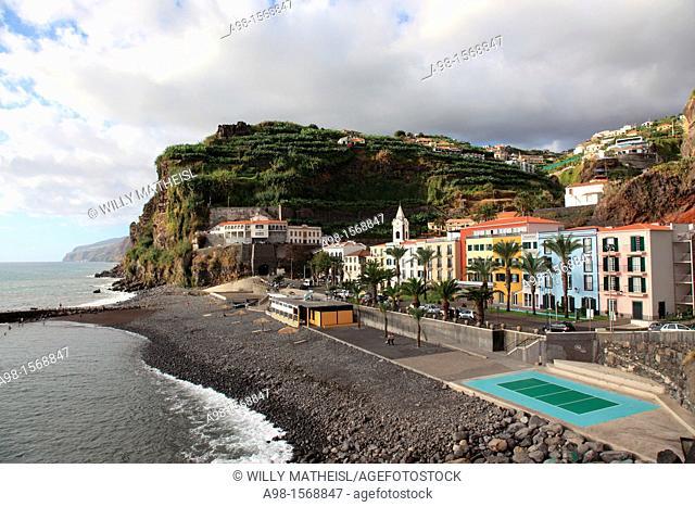 Promenade of Ponta do Sol, former called Baia do Sol, Madeira, Portugal, Europe