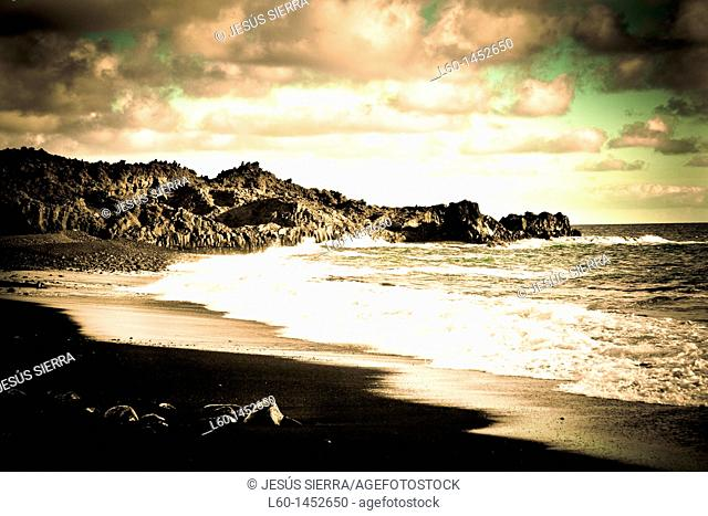 Beach in Fuencaliente, La Palma, Canary Islands, Spain