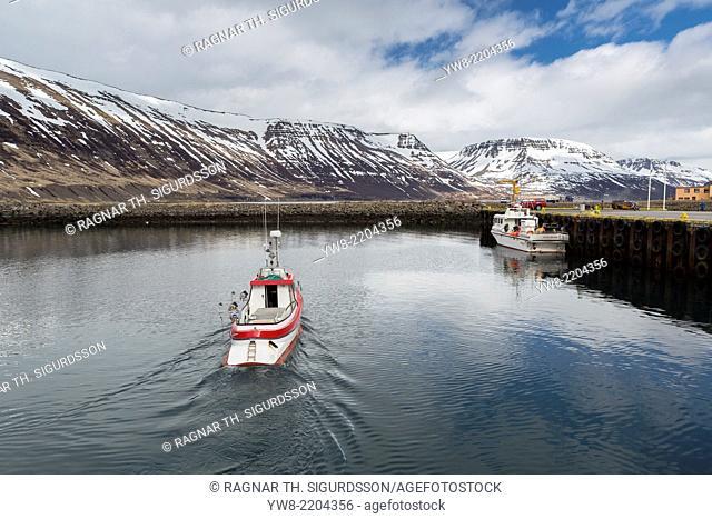 The Harbour of Sudureyri, Western Iceland