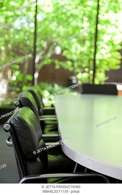 Empty chairs in meeting room