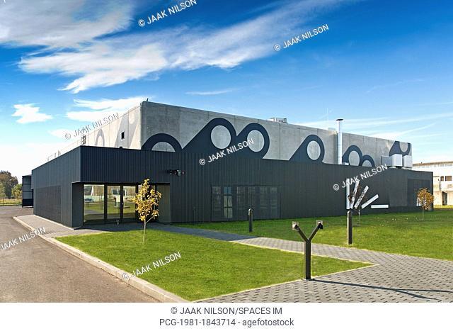 Modern Factory Building Exterior