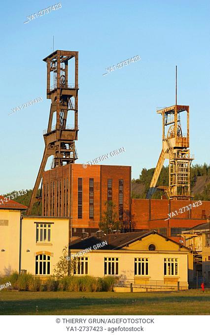 France, Moselle (57), Forbach, Petite Rosselle, Carreau Wendel, Museum Musée Les Mineurs Wendel, old mine shaft Wendel 1 and 2