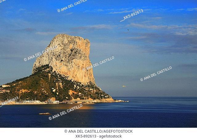 Ifach wall of rock in a beach village: Calpe