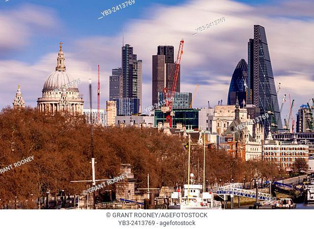 The City Of London Skyline, London, England