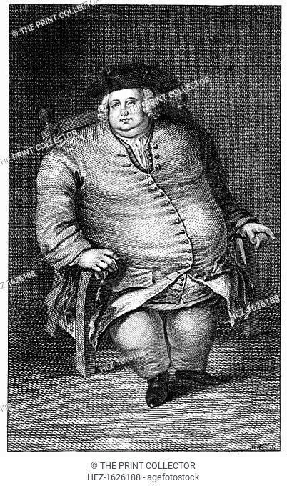 Mr Edward Bright (1721-1750), 1751. Bright was a grocer from Maldon, Essex. At the time of his death he was reputed to be the fattest man in England; his coat...