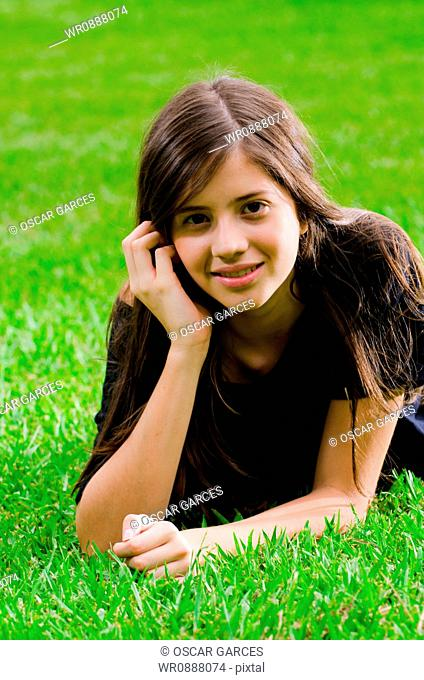 Young Woman in the Grass