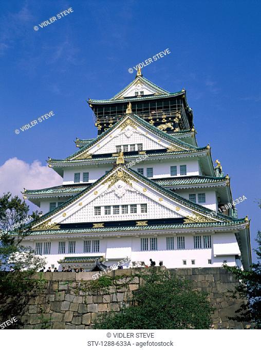 Architecture, Asia, Castle, Feudal, Feudalism, Holiday, Japan, Japanese, Landmark, Osaka, Palace, Regal, Royalty, Tourism, Toyot