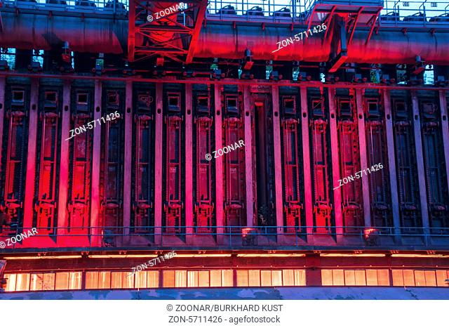 Nightshot of the coking plant Zollverein in Essen