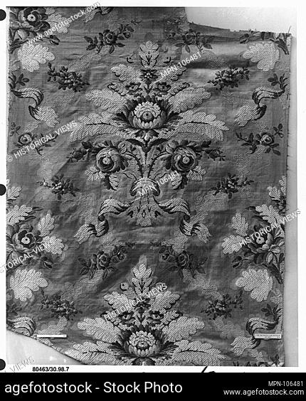 Piece. Date: 18th century; Culture: Russian or French; Medium: Silk and metal thread; Dimensions: L. 45 x W. 19 3/4 inches (114.3 x 50
