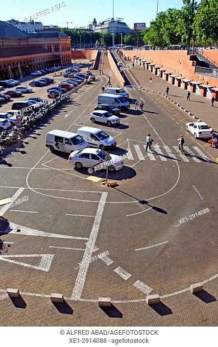 Parking, Atocha station, Madrid, Spain