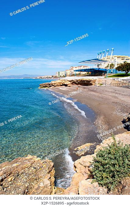 Punta de Torrox beach in Andalusia, Spaiin