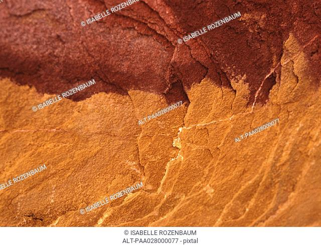 Red rock surface