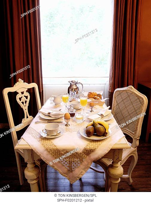 Table set for breakfast