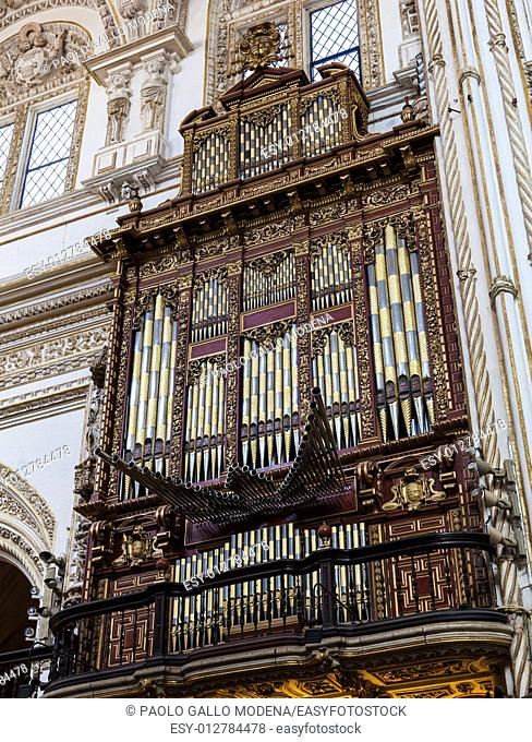 Detail of a 2 century old organ in a Spanish Catholic Church