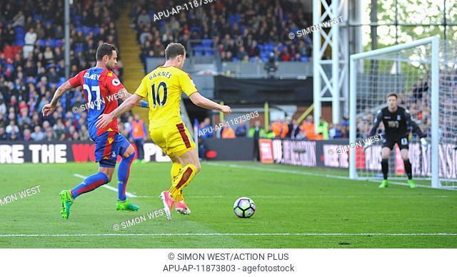 2017 EPL Premier League football Crystal Palace v Burnley Apr 29th. April 29th 2017, Selhurst Park, London England; EPL Premier league football