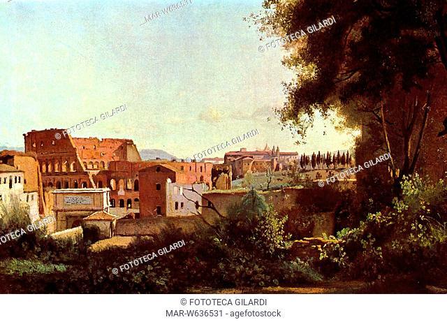 Camille COROT (1796-1875) Il Colosseo visto dai Giardini Farnese del Palatino', 1826,,Copyright © Fototeca Gilardi