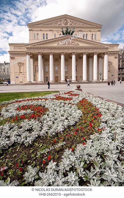 Bolshoi Theatre, Teatralnaya Square, Moscow, Russia