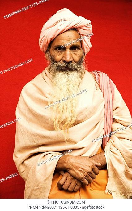 Close-up of a sadhu