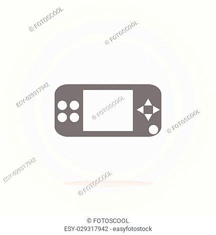 vector game controller web icon, button