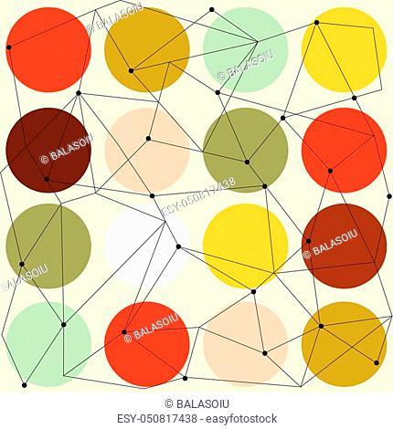 scandinavian geometric modern seamless pattern, vector format