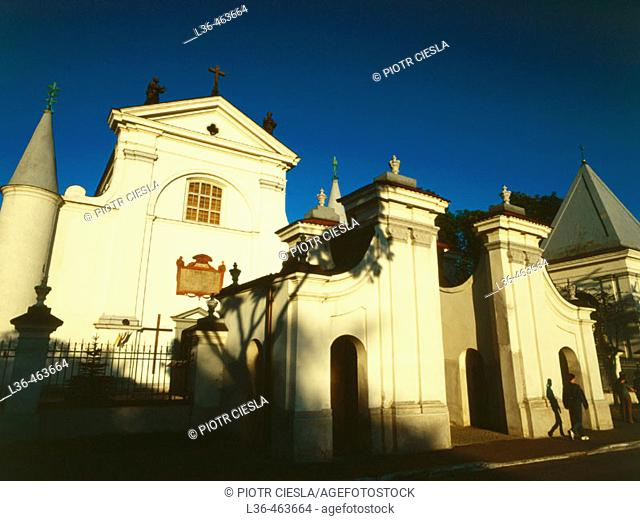 Wegrow, church from the XVIII century. Podlasie region. Eastern Poland
