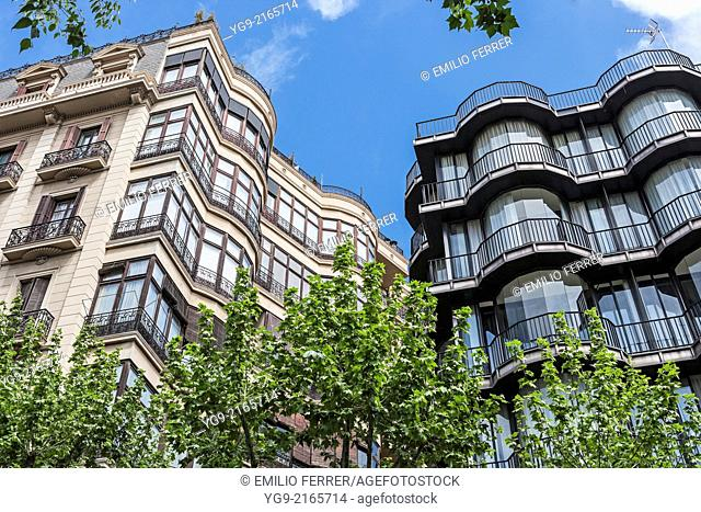 Apartment building in Barcelona. Spain