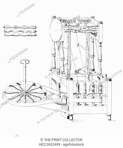 'Arkwright's Spinning Jenny, 1769', 1769, (1904). From Social England, Volume V, edited by H.D. Traill, D.C.L. and J. S. Mann, M.A
