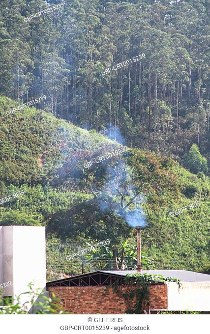 Minas Gerais; MG; Brazil; Chimney smoke coming out