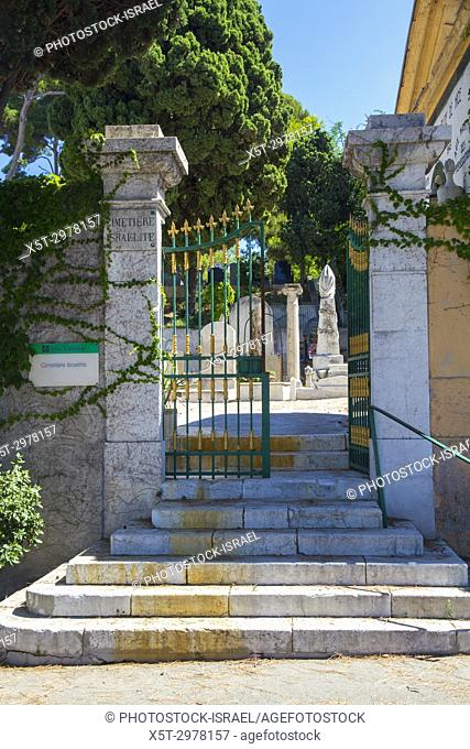 The Jewish cemetery Chateau Cemetery (Cimitiere du Chateau), on Castle Hill Nice, France