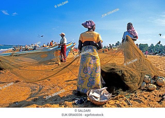 Return of fishing, Negombo, Sri Lanka