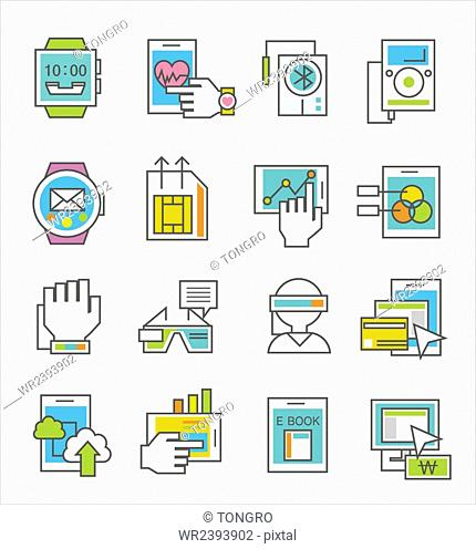Various icons related to IT