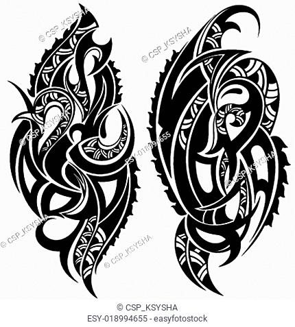 Polynesian Tattoo Style Vector Illustration Stock Photos And Images