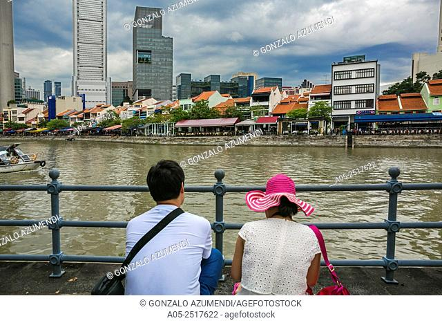 Central Business District. Singapore River. City Skyline. Singapore. Asia