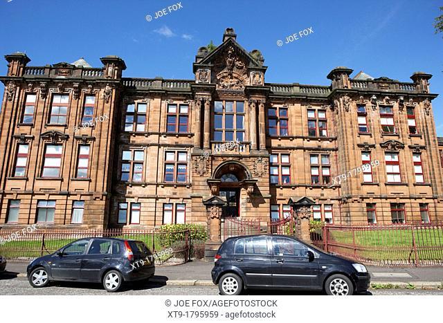 former kilmarnock technical school and academy building now academy apartments scotland uk united kingdom