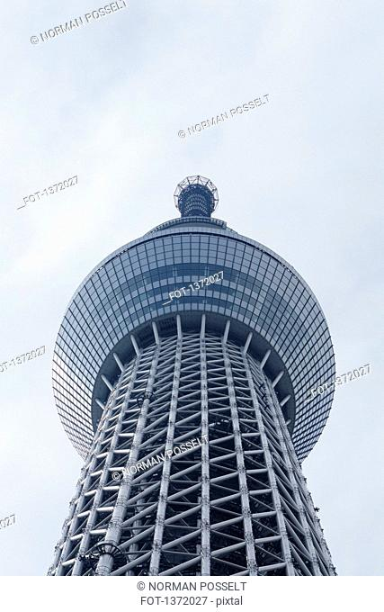 Low angle view of Tokyo Skytree against sky