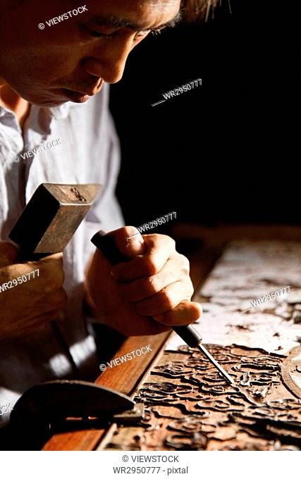 Woodworking engraving