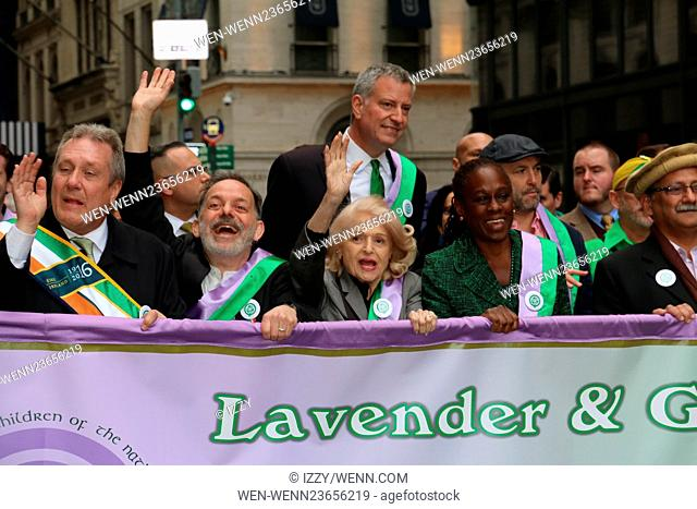 Irish LGBT St Patricks Day Parade in New York City Featuring: Edie Windsor, Bill De Blasio, Chirlane McCray Where: New York City, New York