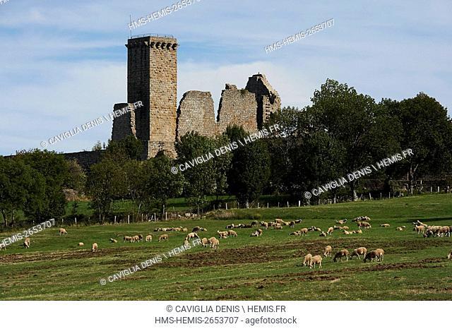 France, Lozere, La Garde Guerin, labelled Les Plus Beaux Villages de France (The Most beautiful Villages of France)