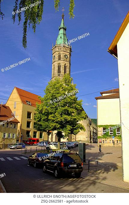 The late-Gothic, nowadays Protestant, Collegiate Church of St. Amandus in Bad Urach, Baden-Wurttemberg, Germany