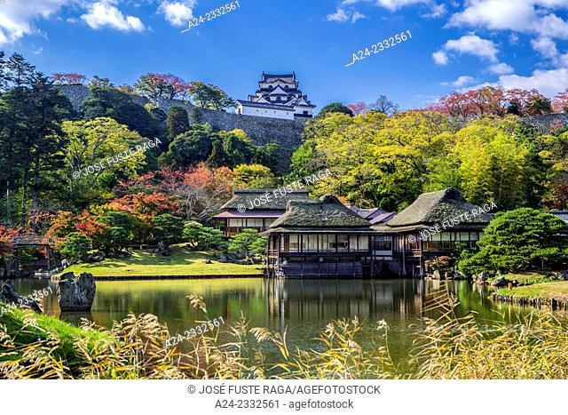 Japan , Hikone City, Genkyu Garden and Hikone Castle