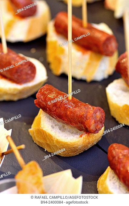 'Pintxos' (typical small snack from the Basque Country, Spain)