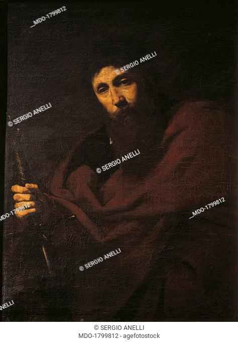 Saint Paul, by Jusepe de Ribera also known as Spagnoletto,17th Century, oil on canvas. Italy, Lombardy, Milan, Brera Collection. Whole artwork view