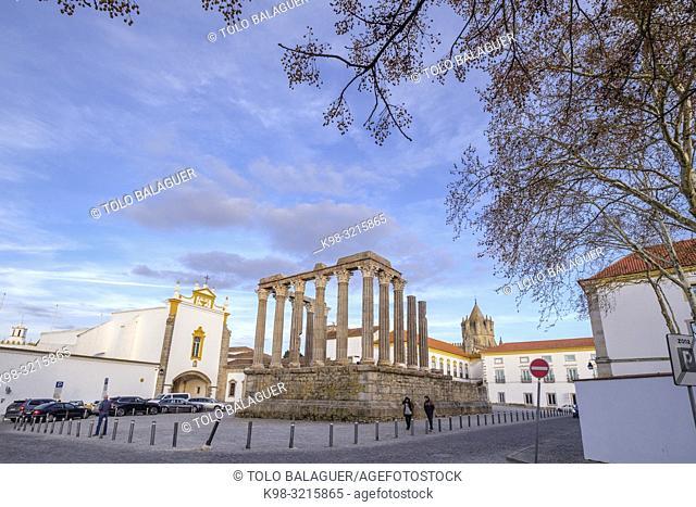 Templo romano de Évora, Templo de Diana, siglo I a. c. , Évora, Alentejo, Portugal