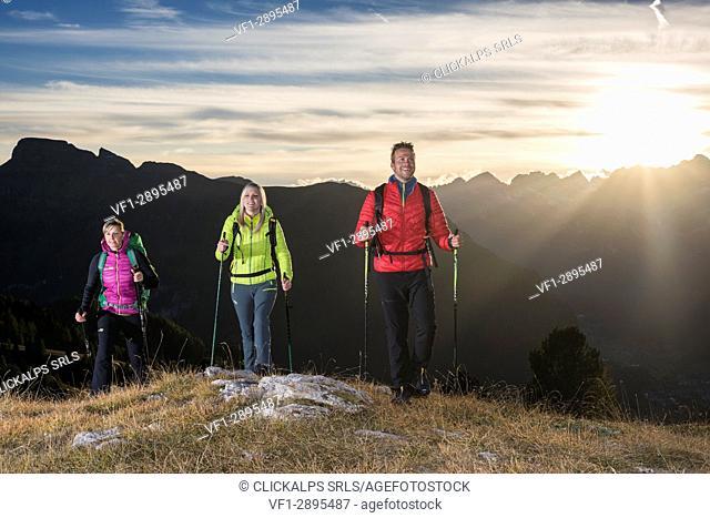 Dolomites, Fassa Valley, Trentino, Italy, Europe, Alps, Mountain, Pordoi pass