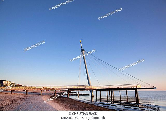 Sea bridge of Hohwacht at the Baltic Sea, Schleswig - Holstein, North Germany, Germany