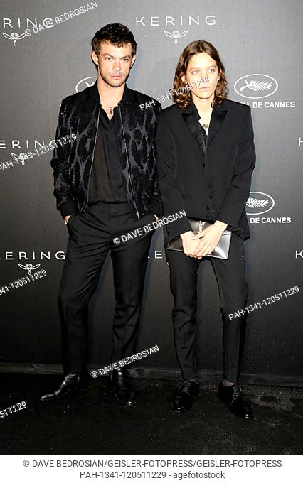Clara Deshayes with guest at the Kering and Cannes Film Festival Official Dinner during the 72nd Cannes Film Festival at Place de la Castre on May 19