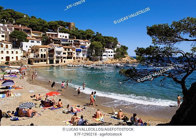 Sa Tuna  Near Begur Costa Brava  Girona province  Catalonia  Spain
