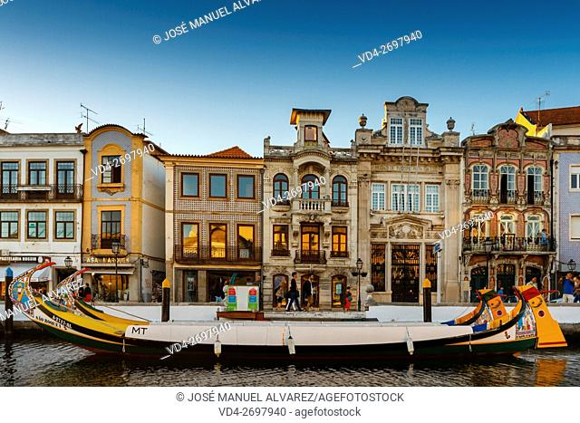 Imagen taken on a street in the city of Aveiro, Portugal. A famous portuguese city known for its river and canal. Sometimes it is called the Venice Portuguese